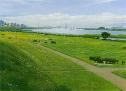 新大田区百景 「六郷橋緑地と多摩川」