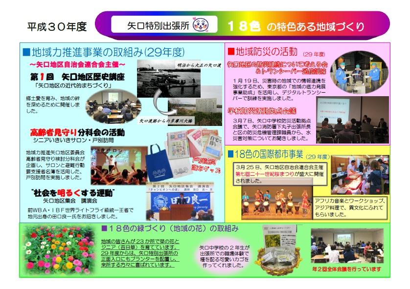 大田区ホームページ:平成30年度「矢口特別出張所18色の特色ある地域
