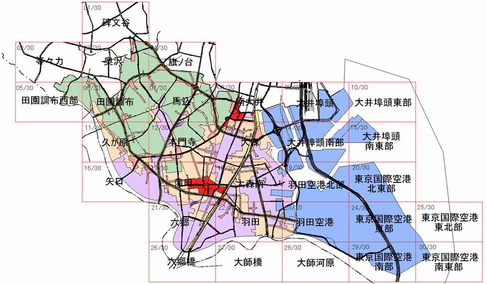 大田区ホームページ:市街地類型図